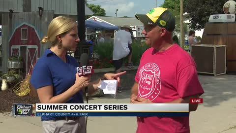 Elkhart Fair President-elect Trent Hostetler discusses this year's...